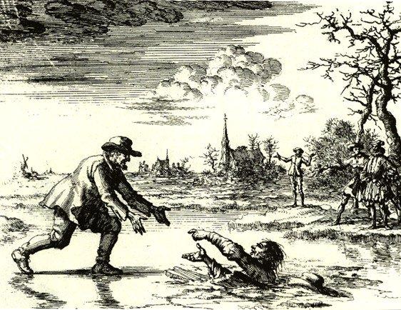 Dirk Willems rescuing his pursuer
